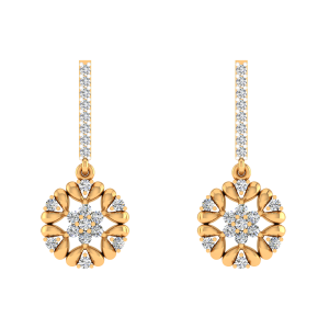 Fleur Spirit Diamond Drop Earrings