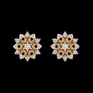 Floral Romance Diamond Stud Earrings
