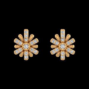 Sparkle Chords Diamond Stud Earrings