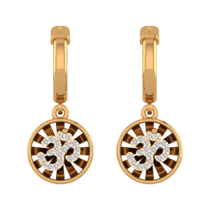 Om & Chakra Diamond Drop Earrings