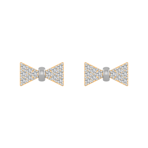 Bow Tie Diamond Stud Earrings