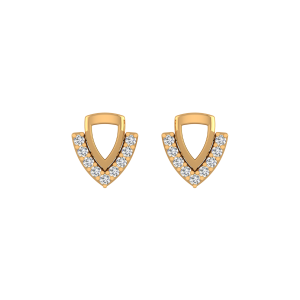Sheet Anchor Diamond Stud Earrings