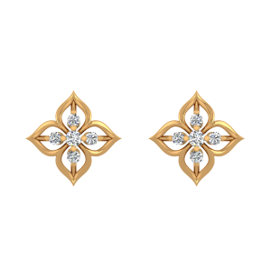 Pretty Daisy Diamond Stud Earrings