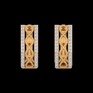 Casual Flow Diamond Stud Earrings