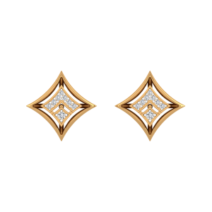 The Square Suave Diamond Stud Earrings