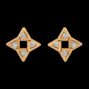Magical Square Diamond Stud Earrings