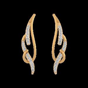 Like A Flame Diamond Stud Earrings