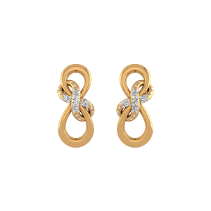 Infinity Forever Diamond Stud Earrings