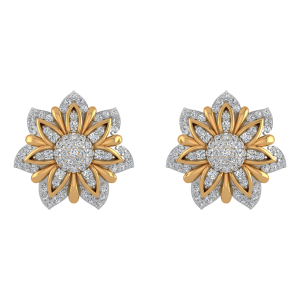 The Full Bloom Diamond Stud Earrings