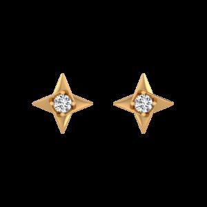 Glitter Star Diamond Stud Earrings