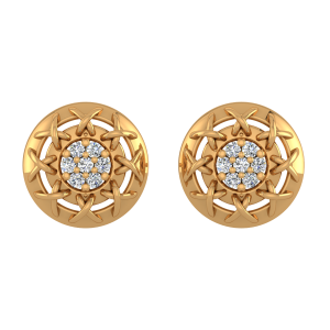 Ideal Roundabout Diamond Stud Earrings