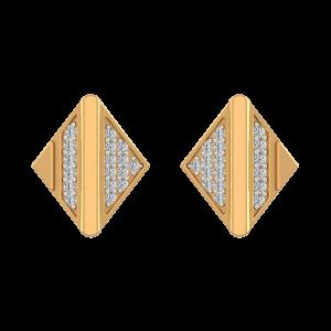 Glitter Sidewalk Diamond Stud Earrings