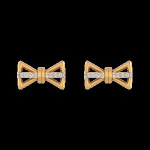 Tie A Statement Diamond Stud Earrings