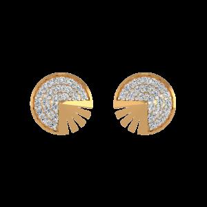 The Solo Duet Diamond Stud Earrings