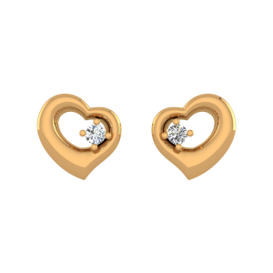 Remix By Heart Diamond Stud Earrings