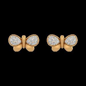 The Cutest Fly Diamond Stud Earrings