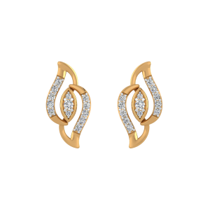Eye In Eye Diamond Stud Earrings