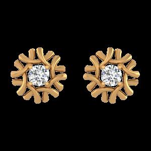 Folds N Flaunts Diamond Stud Earrings
