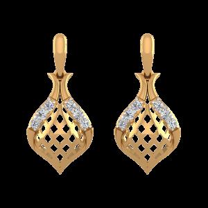 Drop N Blush Diamond Drop Earrings