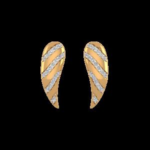 Vibrant Wings Diamond Stud Earrings