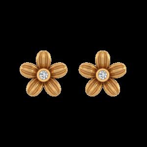 Floral Blush Diamond Stud Earrings