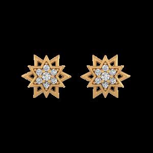 The Rockstar Diamond Stud Earrings