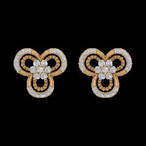 Golden Globule Diamond Stud Earrings