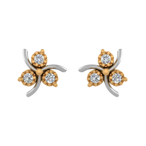 Round Glory Diamond Stud Earrings