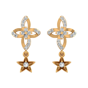 See The Stars Diamond Stud Earrings