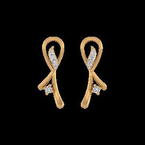 Disco Flame Diamond Stud Earrings