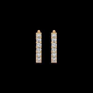 Love Circle Diamond Hoop Earrings
