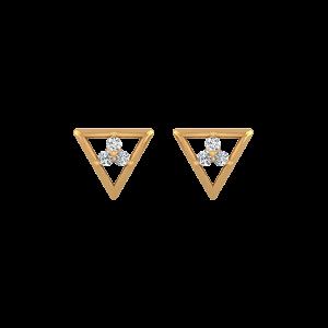 Triangle Treat Diamond Stud Earrings