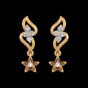 The Falling Star Diamond Drop Earrings