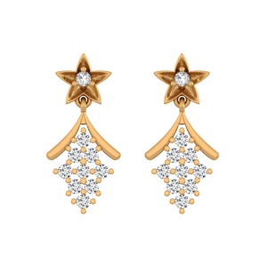 The Tailed Stars Diamond Drop Earrings