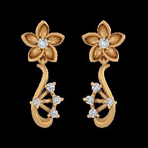 Floral Soul Diamond Drop Earrings