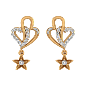 Hearty Accents Diamond Stud Earrings
