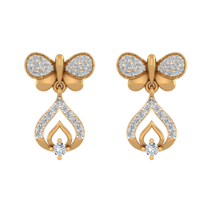 Fire Fly Diamond Drop Earrings