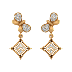 Nature`s Gift Diamond Drop Earrings