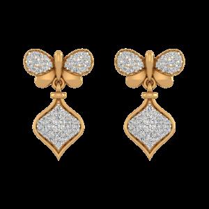 Drop N Fly Diamond Drop Earrings