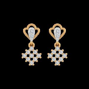 The Spring Maze Diamond Drop Earrings