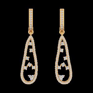 Organic Delight Diamond Drop Earrings