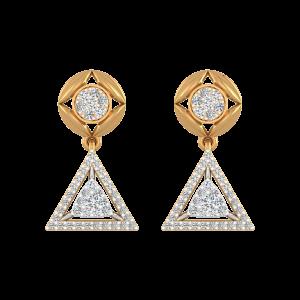 Edgy Domain Diamond Drop Earrings