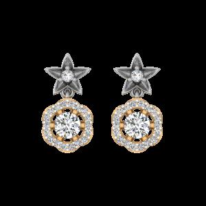Flower Forever Diamond Drop Earrings