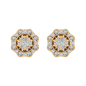 Floral Flair Diamond Stud Earrings
