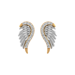 Angel Wings Diamond Stud Earrings