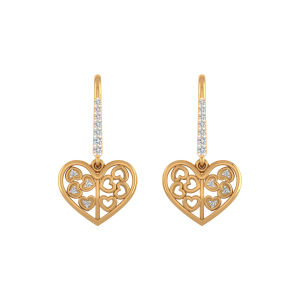 Hearts N Hearts Diamond Stud Earrings