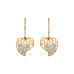 Hopping Hearts Diamond Stud Earrings