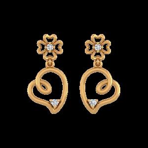 Teeny Hearts Diamond Drop Earrings