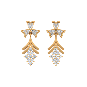 Fine N Fascinating Diamond Stud Earrings