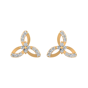 The Lily Pads Diamond Stud Earrings